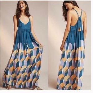 Anthropologie (Carla Weeks) Setting Sun Maxi Dress